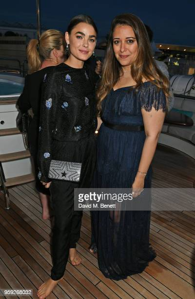 Bambi NorthwoodBlyth and Laura Chavez attend the Lark and Berry launch party on a private yacht during the 71st Cannes Film Festival on May 16 2018...