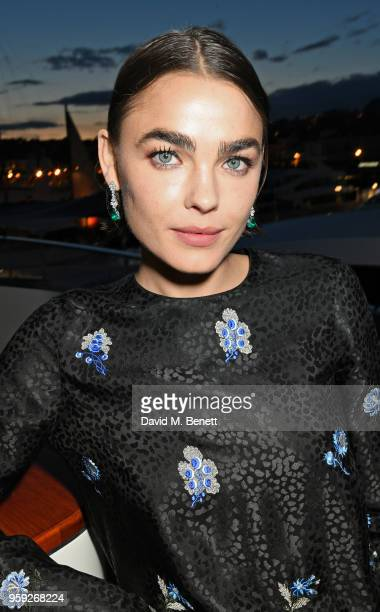 Bambi NorthwoodBlyth attends the Lark and Berry launch party on a private yacht during the 71st Cannes Film Festival on May 16 2018 in Cannes France