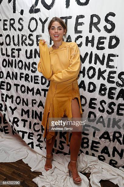 Bambi NorthwoodBlyth attends the Made Berlin Dinner during the MercedesBenz Fashion Week Berlin Spring/Summer 2017 at Alte Teppichfabrik on July 1...