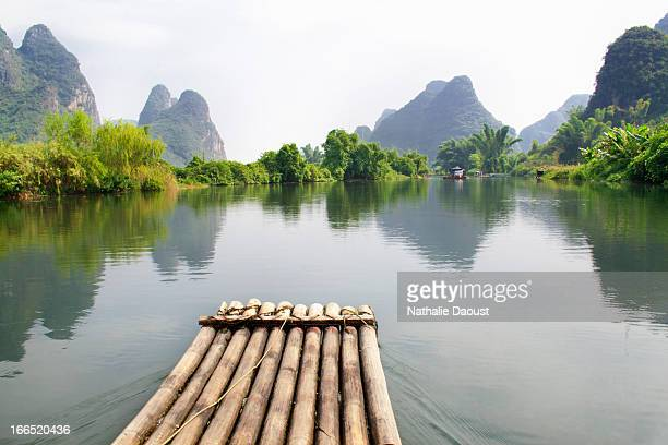 Bamboo boat trip on the Li River