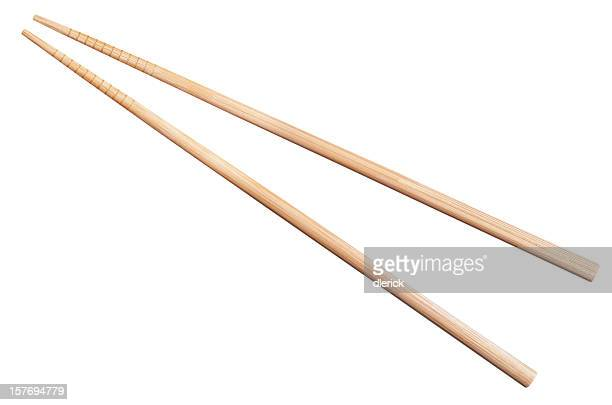 bamboo chopsticks isolated on white
