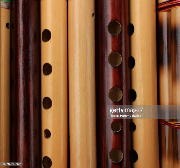 bamboo flutes - bamboo flute photos et images de collection