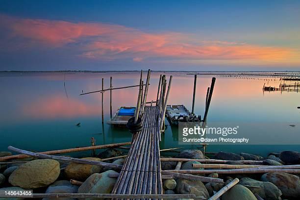 Bamboo jetty