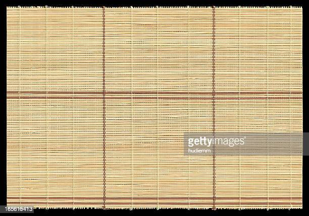 Bamboo mat texture background isolated