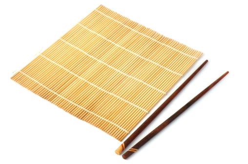Bamboo mat with chopstick 177411412