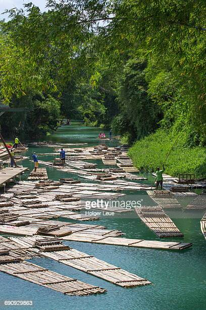 Bamboo raft excursion on Martha Brae river