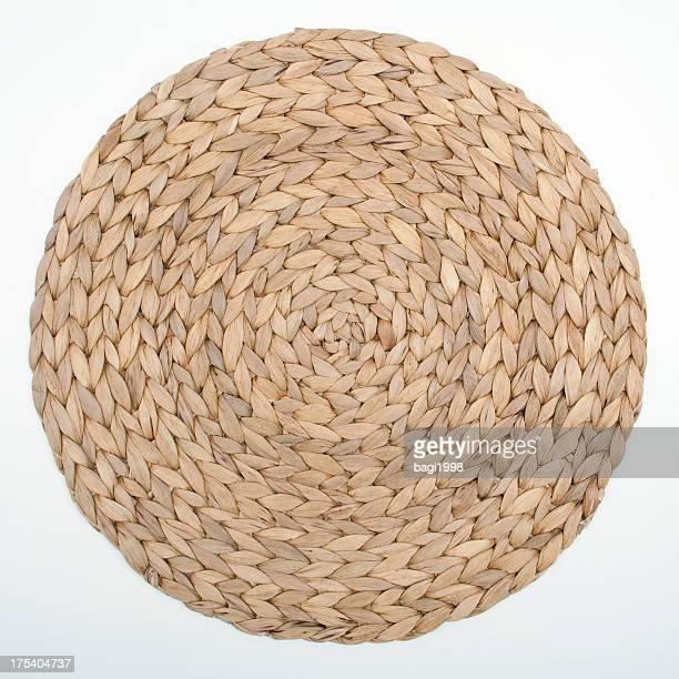 Bambú Alfombrilla rotativo