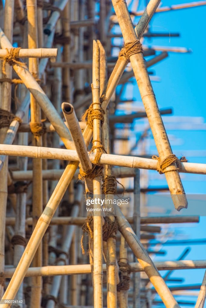 Bamboo Scaffolding Construction Work Ananda Pahto Temple