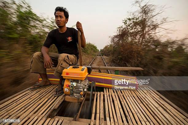 CONTENT] Bamboo Train Ride Battambang Battambang Province Cambodia Indochina Asia