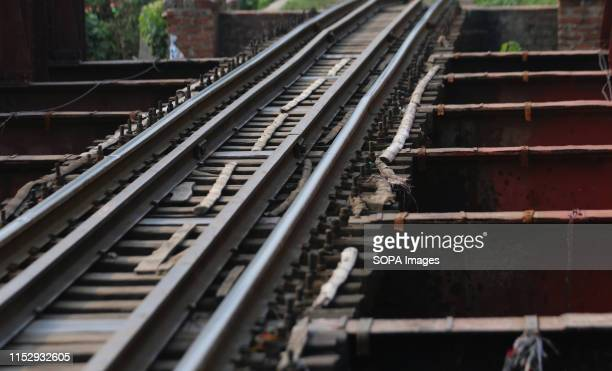 Bamboo was used instead of iron on the railway tracks in a section of a railway bridge in Dhaka This is a highrisk factor for the train commuters