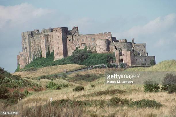 Bamburgh Castle in Bamburgh Northumberland England circa 1965
