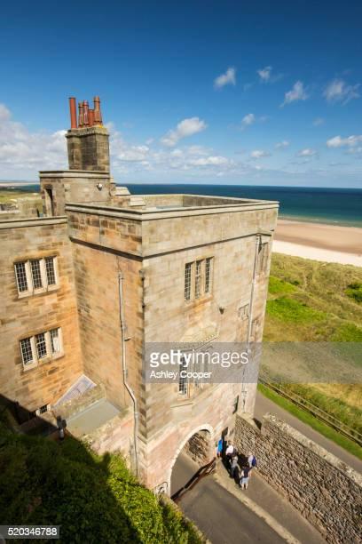 Bamburgh Castle in Northumberland, UK.