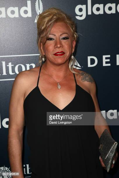 Bamby Salcedo attends the 28th Annual GLAAD Media Awards at The Beverly Hilton Hotel on April 1 2017 in Beverly Hills California