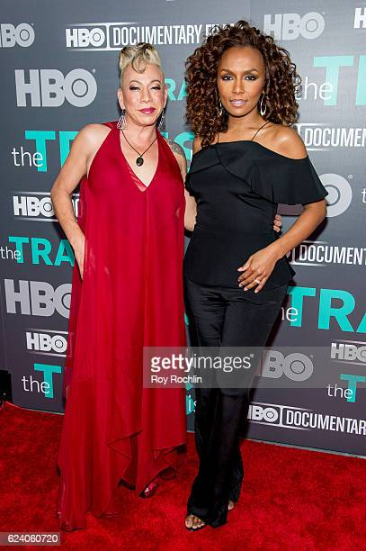 Bamby Salcedo with Janet Mock attend 'The Trans List' New York Premiere at The Paley Center for Media on November 17 2016 in New York City