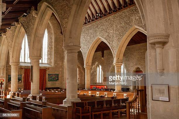 bampton church interior - bampton stock pictures, royalty-free photos & images