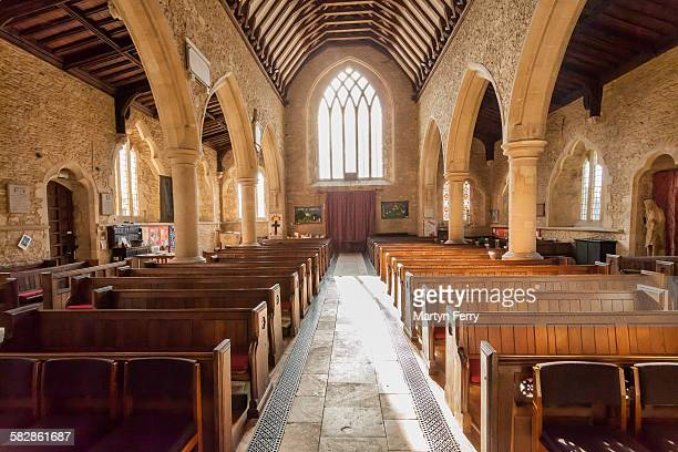 bampton church nave - bampton stock pictures, royalty-free photos & images