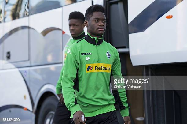 BaMuaka Simakala arrive at the trainings pitch ahead a Training Session at Borussia Moenchengladbach Training Camp on January 09 2017 in Marbella...