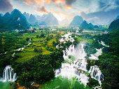 Ban Gioc Detian Waterfall at the Border of China and Vietnam