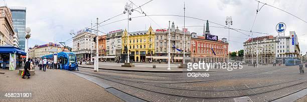plaza de ban jelacic en el centro de zagreb, croacia - ogphoto fotografías e imágenes de stock