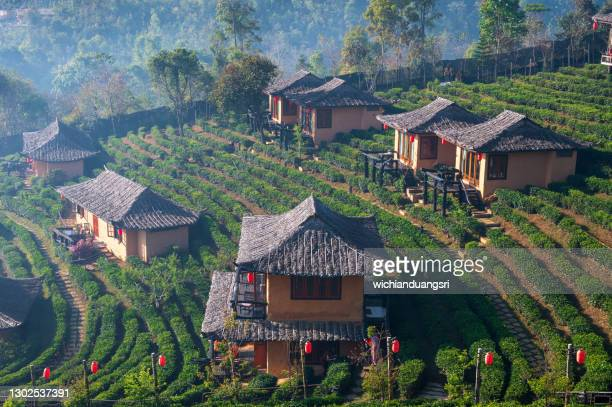 ban rak thai, mae hong son province, thailand - south east asia stock pictures, royalty-free photos & images