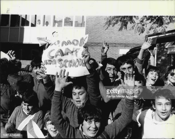 Ban the Cane pamplets handed out at Canterbury Boys High school today August 20 1981