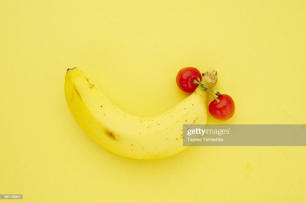 banana and cherry : Stock Photo