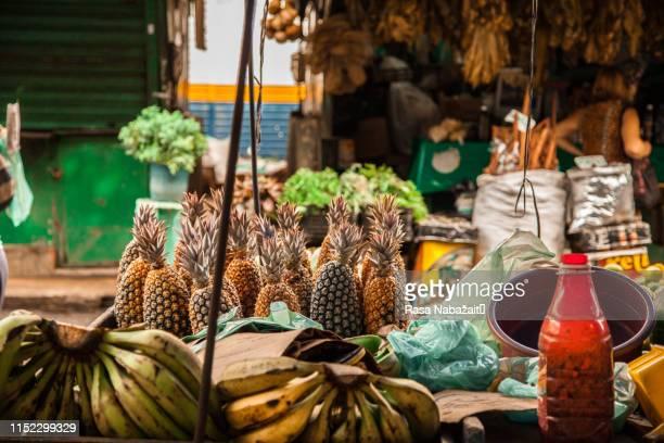 banana and pineapple - recife stock-fotos und bilder