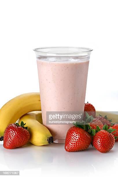 Fruits Smoothie à la fraise et à la banane et