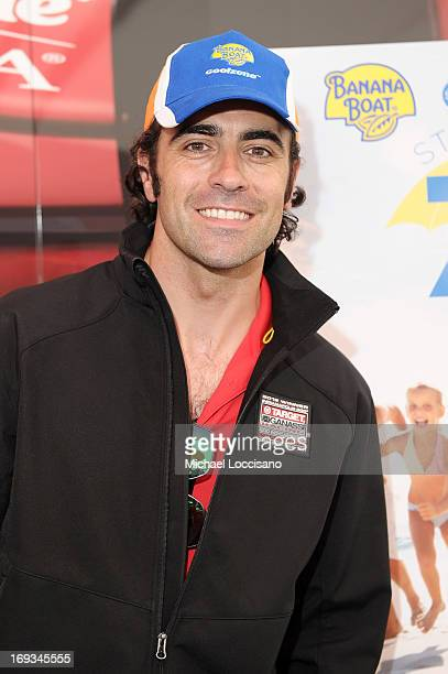 Banana Boat hosts a luncheon with Dario Franchitti at the Target Chip Ganassi Racing Team Hospitality Tent on May 23 2013 in Indianapolis Indiana