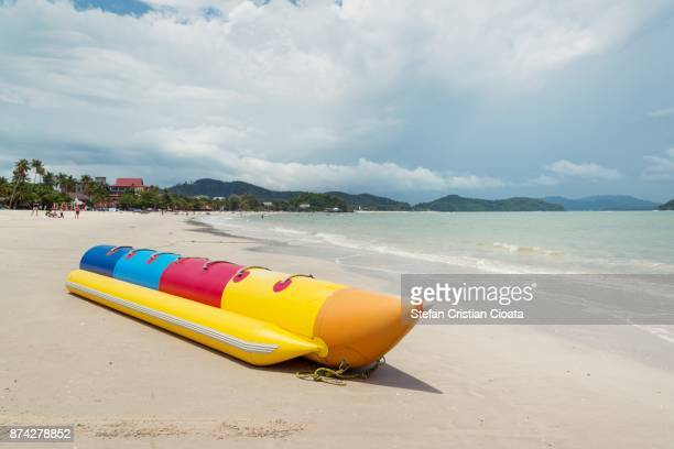 Banana boat prepared for tourists