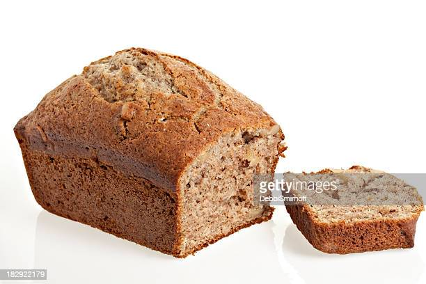 Banana Bread Isolated On White