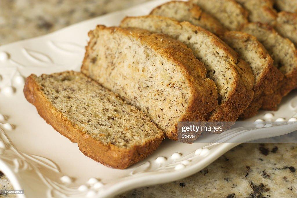 Banana Bread Slice : Stock Photo
