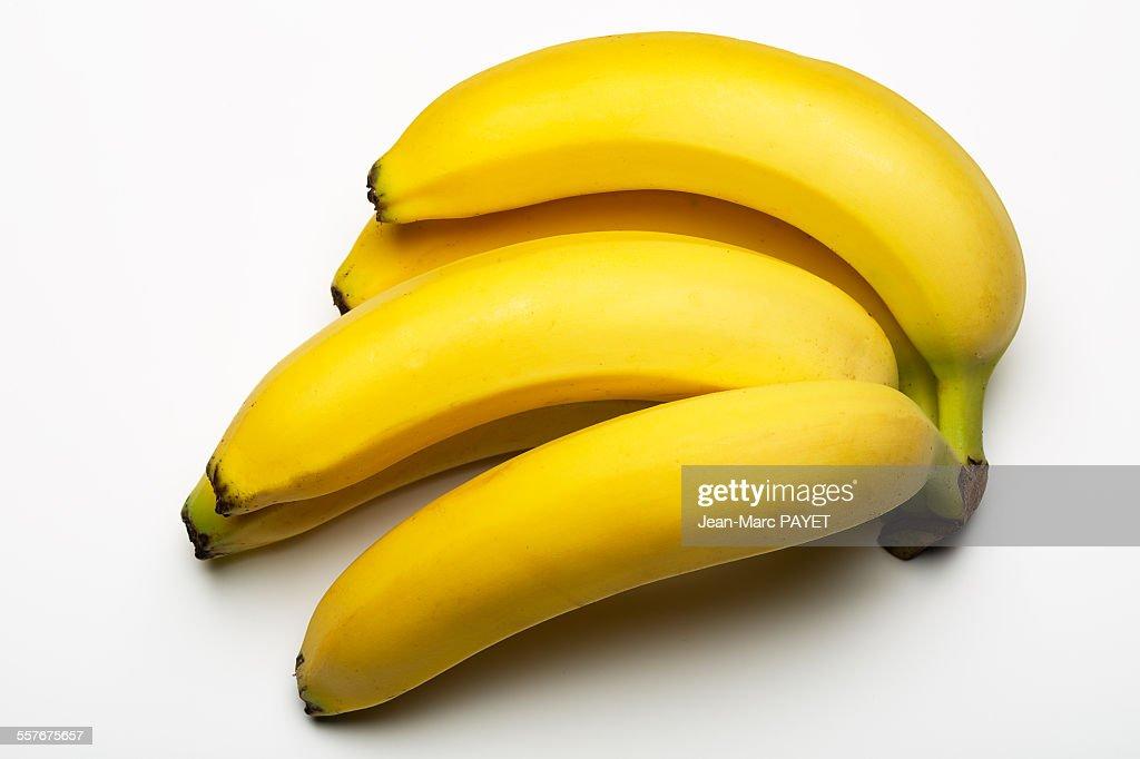 Banana bunch isolated on white : Photo