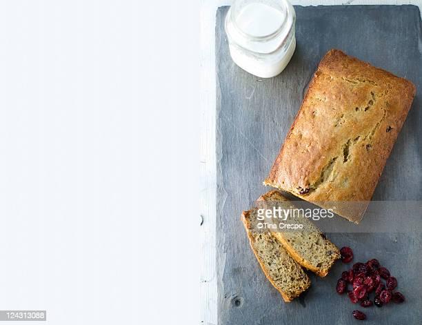 Banana cranberry Bread with Milk