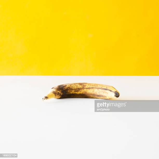 Banana in yellow background