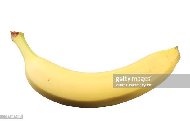 banana isolated on white background - banana stock pictures, royalty-free photos & images