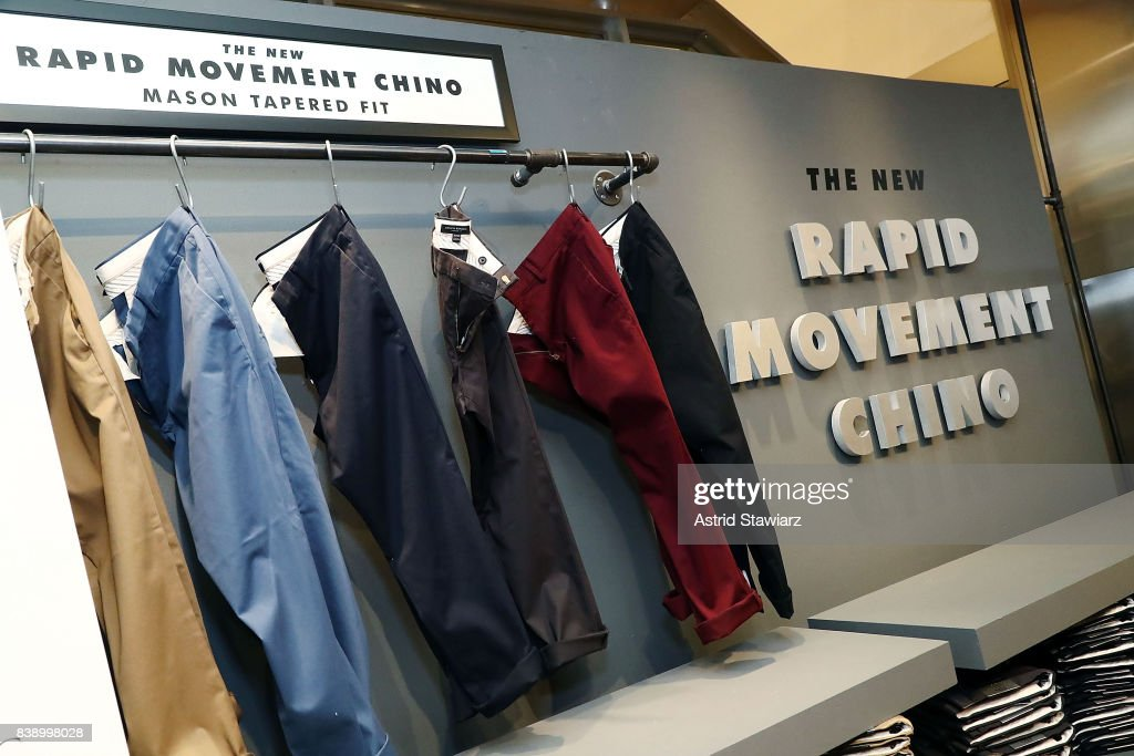 Banana Republic and Yankee's shortstop Didi Gregorius introduce Men's Style Council and Rapid Movement Chino on August 25, 2017 in New York City.