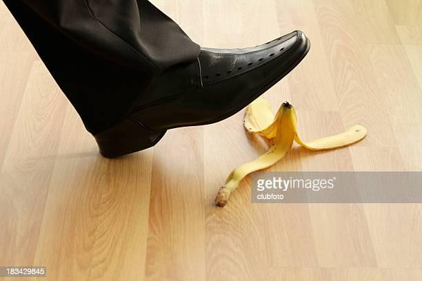 Banana skin danger on the office floor