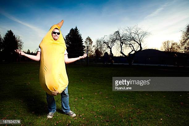 banana suit man - stage costume stock pictures, royalty-free photos & images