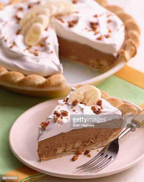 Banana toffee cream pie