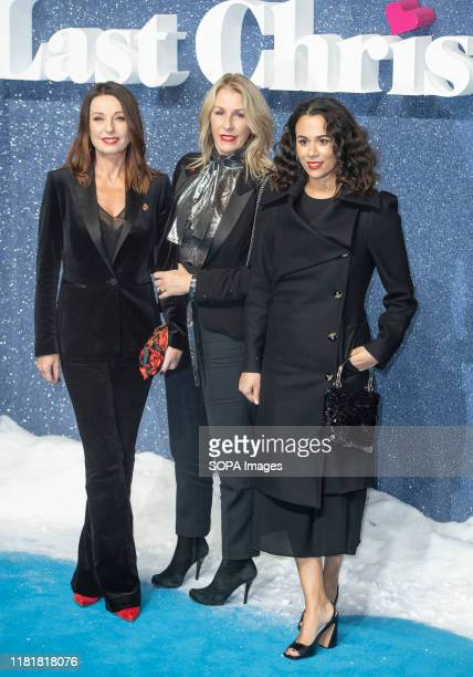 Bananarama Karen Woodward and Sara Dallin attend the Last Christmas Premiere at the BFI Southbank in London