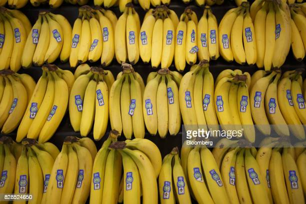 Bananas are displayed for sale during the grand opening of a Whole Foods Market 365 location in Santa Monica California US on Wednesday Aug 9 2017...