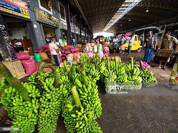 Bananas at Dambulla wholesale fruits and vegetable market, Sri Lanka