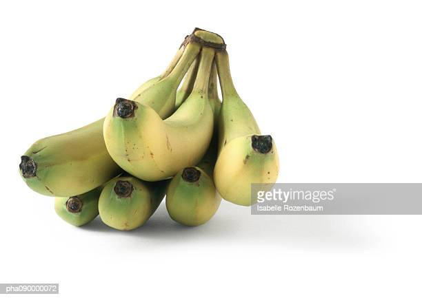 Bananas or plantain, white background