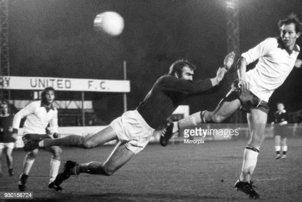 Banbury United v Kings Lynn 26th September 1972 Going for goal Tony Jacques Banbury United's leading scorer beats the goalkeeper but for once the...