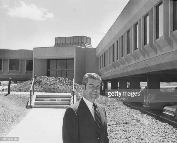 Banch Manger William J Flynn stands in front of new Xerox building in Denver Tech center Credit Denver Post