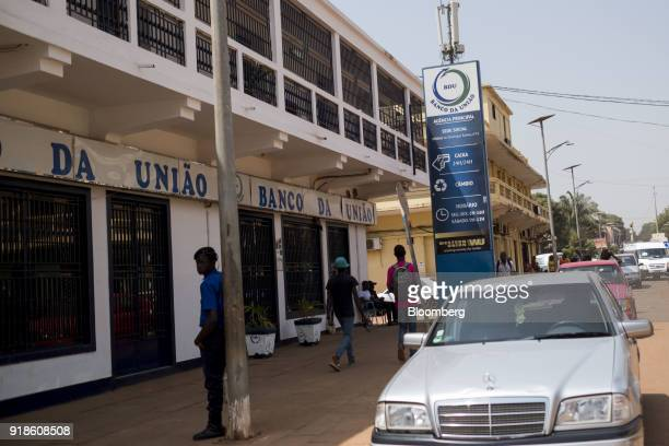 A Banco da Uniao bank branch stands in the Praa neighborhood of Bissau GuineaBissau on Monday Feb 12 2018 The International Monetary Fund said an...