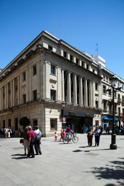 Banco de Bilbao Building, work by Galnares Sagastizabal (1950), Plaza Nueva, Seville, Spain