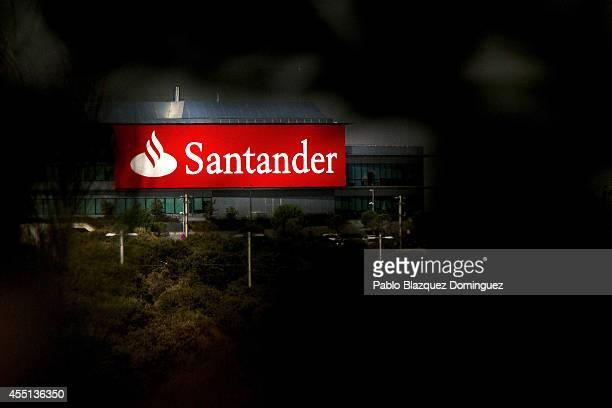 Banco de Santander headquarter's is pictured near Boadilla del Monte on September 10, 2014 in Madrid, Spain. Banco Santander Chairman Emilio Botin...