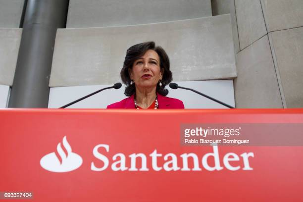 Banco Santander Chairman Ana Patricia Botin during a news conference at a Bank's Castellana building on June 7 2017 in Madrid Spain Banco Santander...